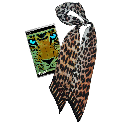 Leopard Teeth Super Skinny Scarf Gold
