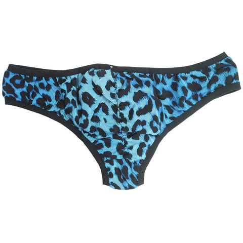 Silk Knickers Blue Leopard