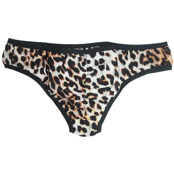 Silk Knickers Natural Leopard