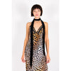 Long Slip Dress Leopard Natural
