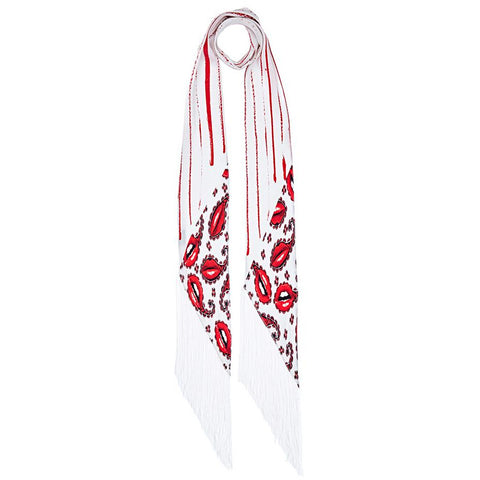 Lips Paisley Classic Skinny Fringed Scarf