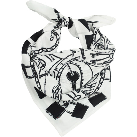 Locks Bandana White and Black