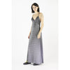 Long Slip Lurex Dress Silver