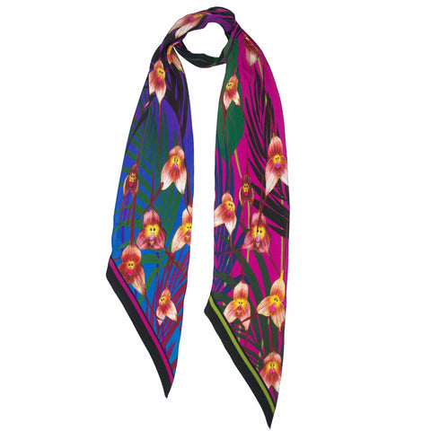 Monkey Orchid Classic Skinny Scarf
