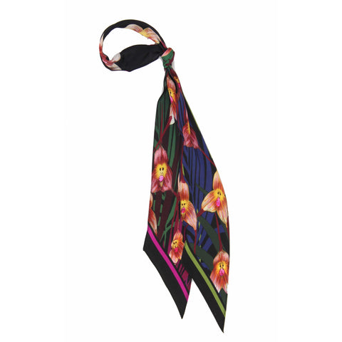 Monkey Orchid Super Skinny Scarf
