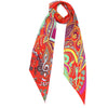 Music is Medicine Classic Skinny Scarf Red