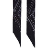 Night Flower Classic Skinny Fringed Scarf Black