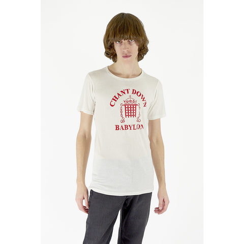 Mens Chant Down Babylon Tee Ivory