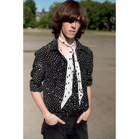 SS19 Mens Redlands Polka Silk Shirt