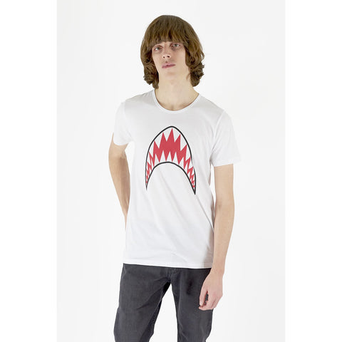 Mens Shark Tee White