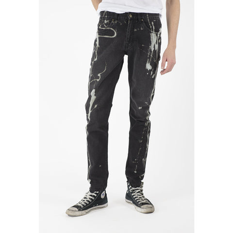 Men's Classic Tapered Bleach Jeans