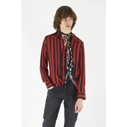 Mens silk marque stripe shirt