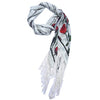 Deluxe Winter Rose Ivory Boxset Fringed Skinny Scarf Product Shot