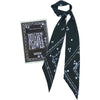 Night Flower Super Skinny Scarf Black