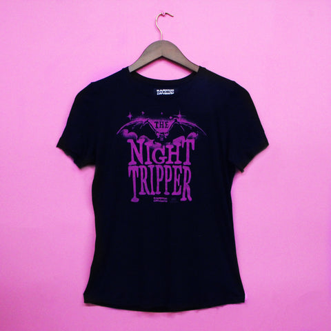 Night Tripper Solid Black T-Shirt