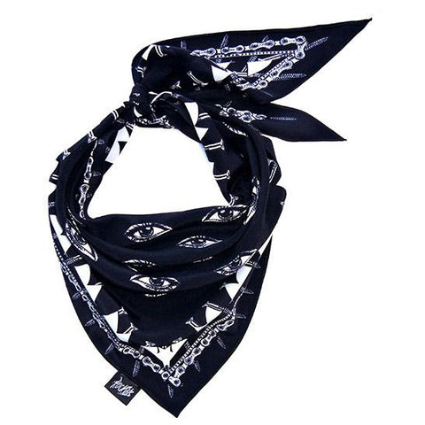 Eyes Neckerchief Black