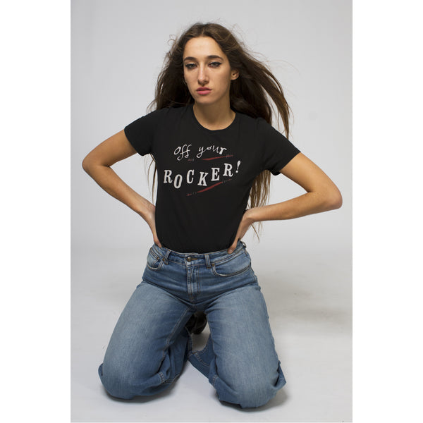 Off Your Rocker T-Shirt Solid Black