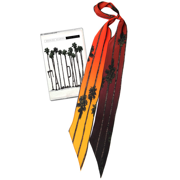 Tall Palm Super Skinny Scarf Sunset