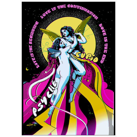 LTD Edition Cupid and Psychedelia Poster