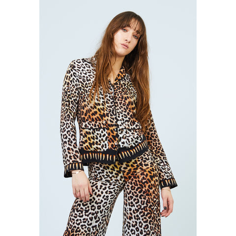 Leopard Teeth PJ Top Natural