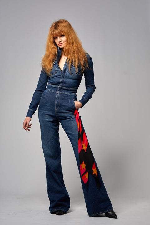 Denim Boilersuit Dark Indigo