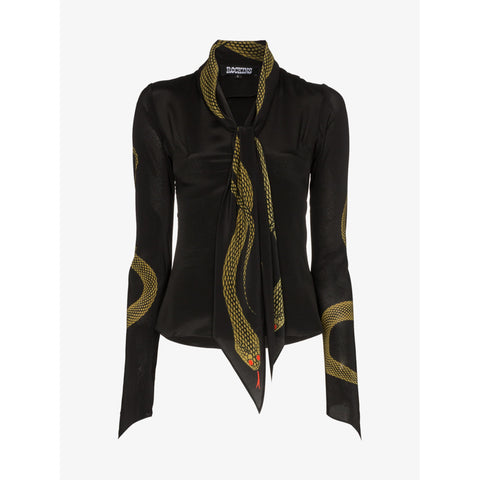 Gold Snake Mitred Sleeve Shirt