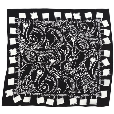 Locks Bandana Silk Black and White