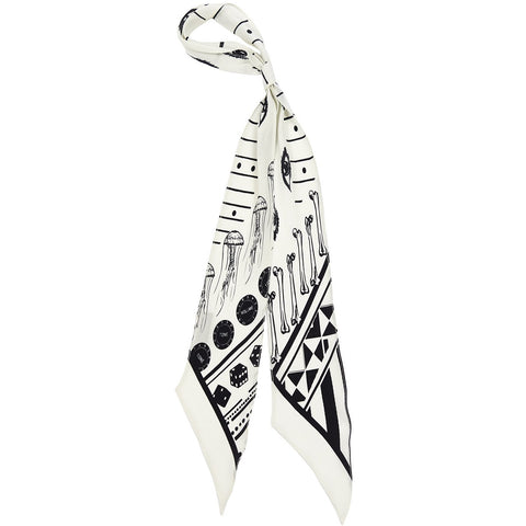Rockins Super Skinny Scarf Ivory