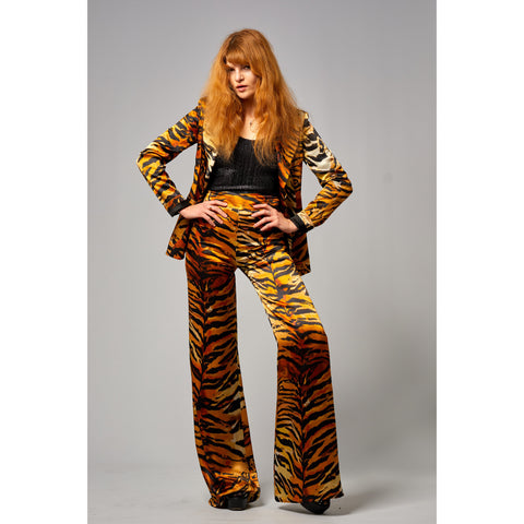 Tiger High Waist Wide Leg Trouser