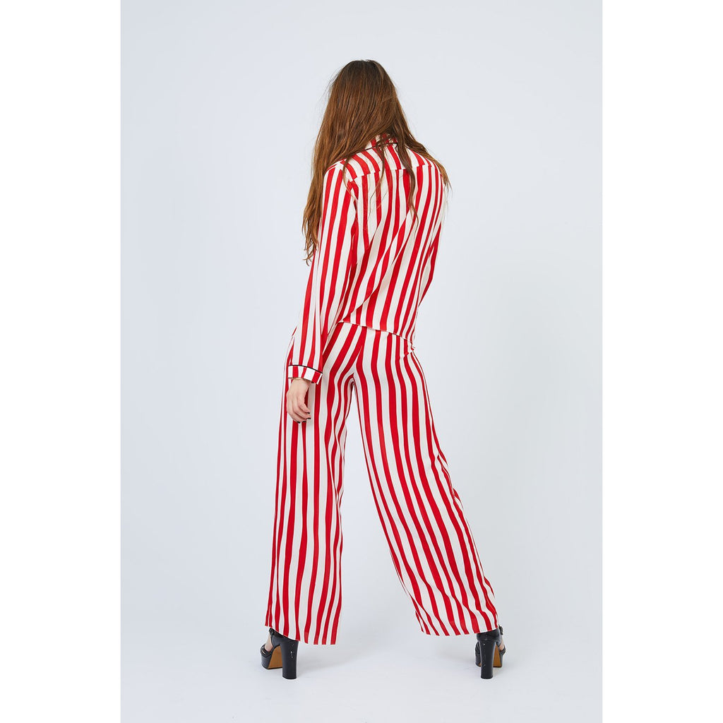 Stripe PJ Trouser Red and White