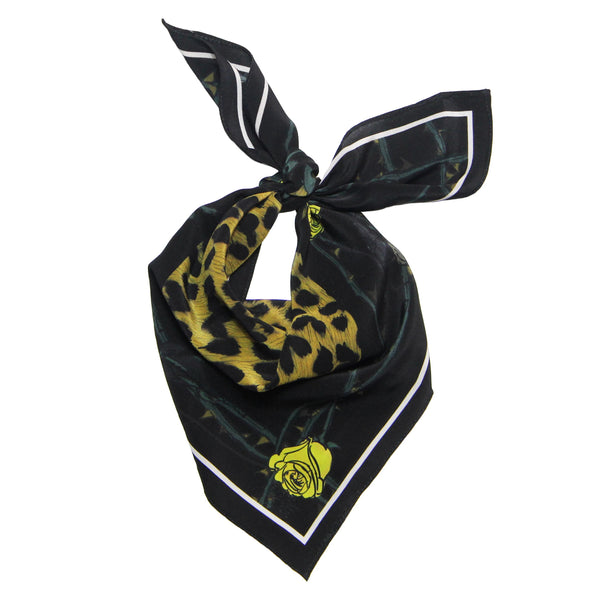 Rose Leopard Bandana Gold