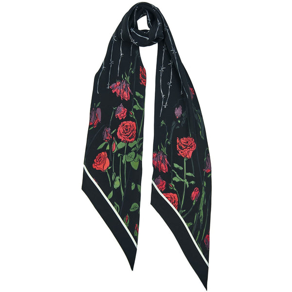 Roses Classic Skinny Scarf Black