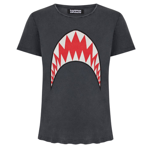 Shark Washed Black T-shirt