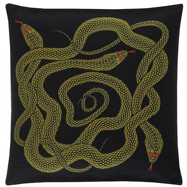Snakes Cushion Gold