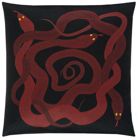 Snakes Cushion Red