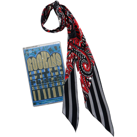 Star Paisley Super Skinny Scarf Red