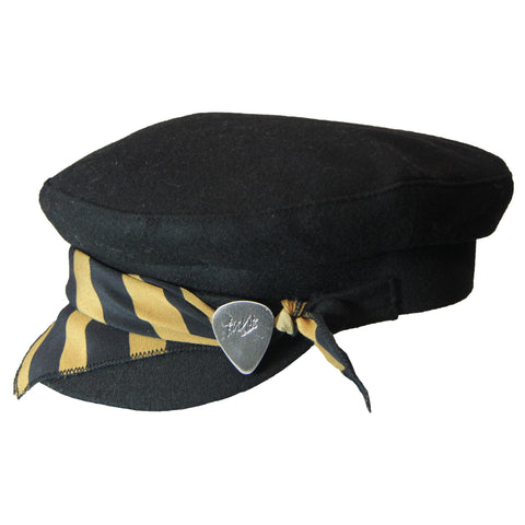 Black & Gold Stripe Cap