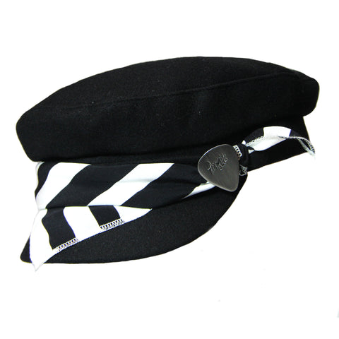 Black & White Stripe Cap