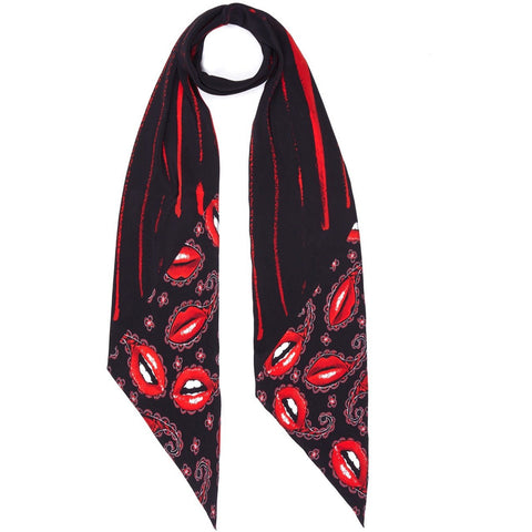 Lips Paisley Classic Skinny Scarf