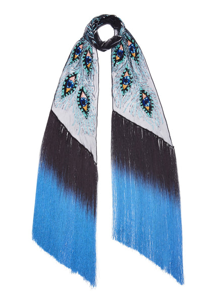 Peacock Eyes Sequin Scarf