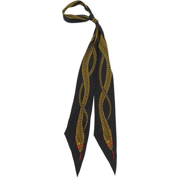 Snakes Super Skinny Scarf Gold