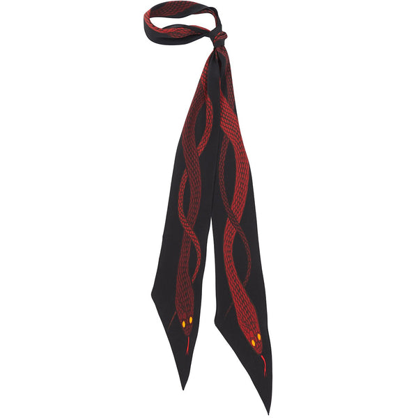 Snakes Super Skinny Scarf Red