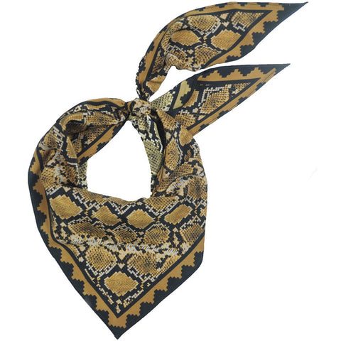 Snakeskin Neckerchief Gold