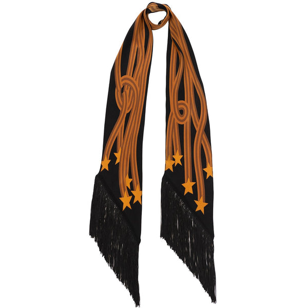 Starstreamers Classic Skinny Fringed Scarf Gold