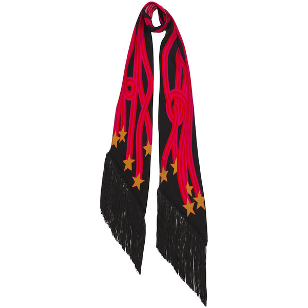 Starstreamers Classic Skinny Fringed Scarf Pink