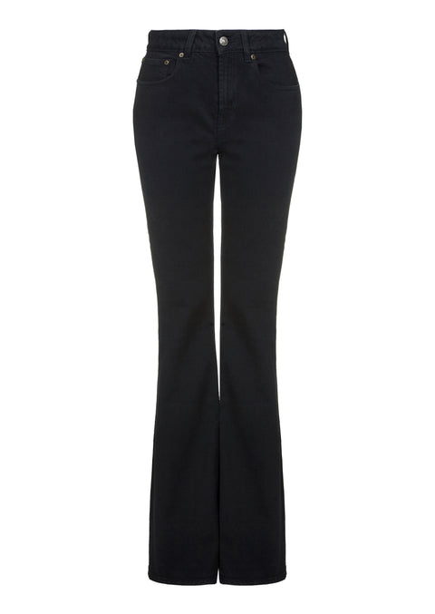 Stretch Classic High Rise Flare Black