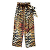 Loose Trouser With Classic Scarf Tiger
