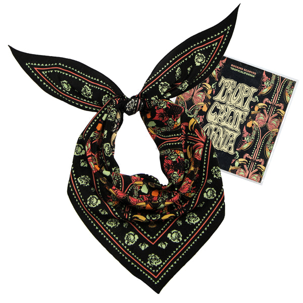 Tropicalifornia Neckerchief Silk Pink & Black