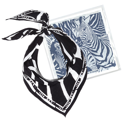 Zebra Neckerchief Black & White