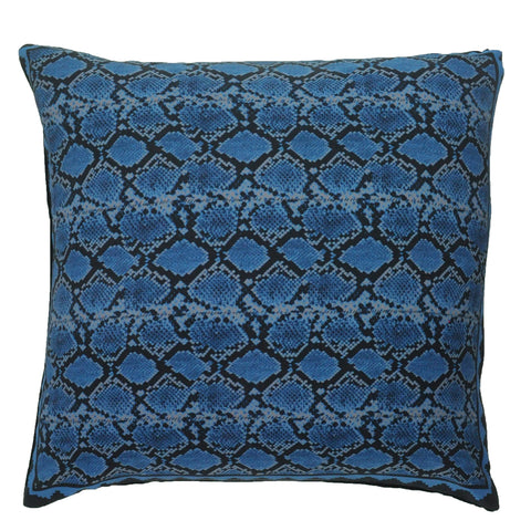 Snakeskin Cushion Blue